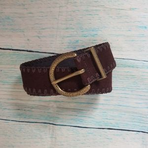 Liz Clairbone brown leather belt size S